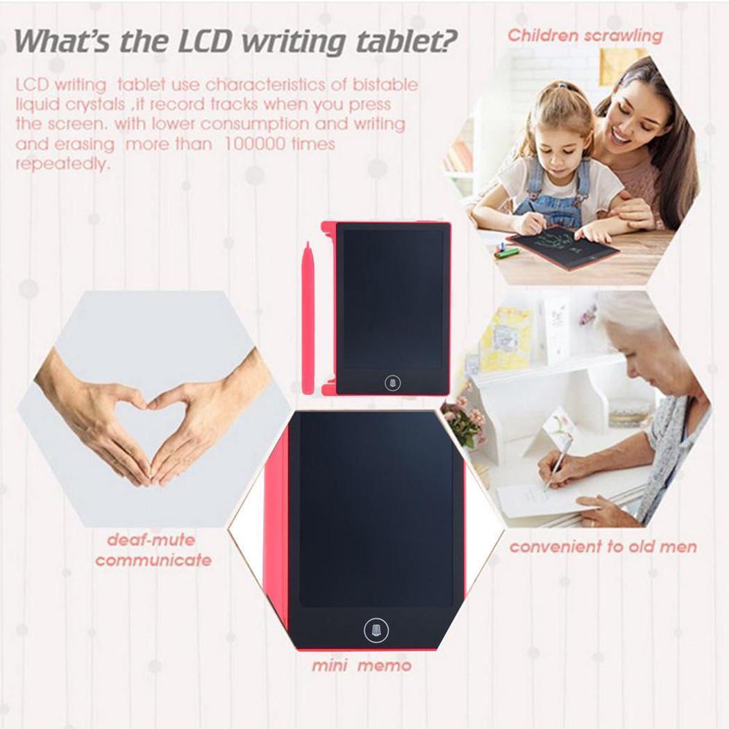 Children LCD Writing Tablet,4.4inch Portable Practical Reusable LCD Writing Drawing Tablet Board Best Gift for Kids