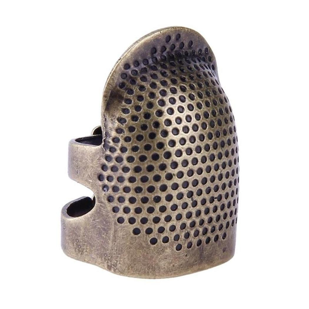 Finger Thimble Sewing Quilting Embroidery Adjustable Hand Shield 0020